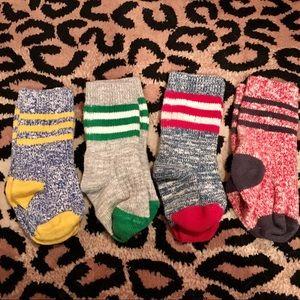 4 pairs mini Boden boys stripe thick socks 2 3